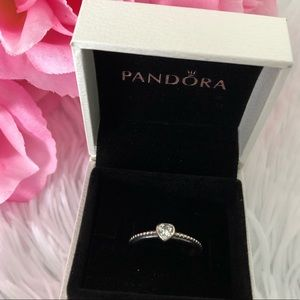 Pandora Ring: One Love Clear Cz